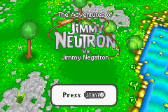 Jimmy Neutron Boy Genius Vs. Jimmy Negatron GBA Screenshot Screenshot 1